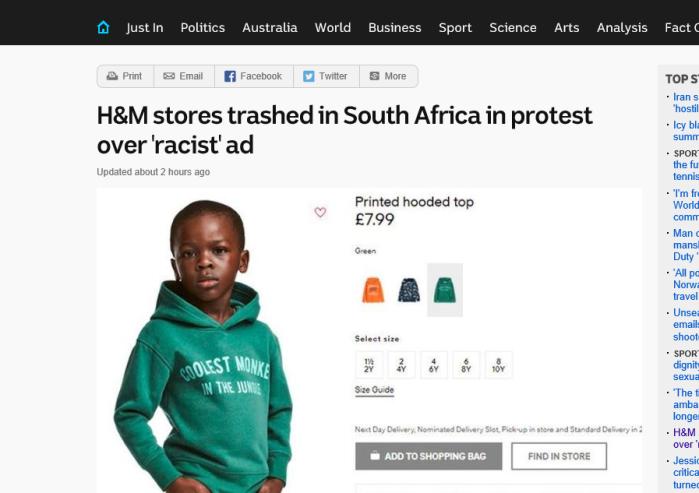 Boycott the racists.